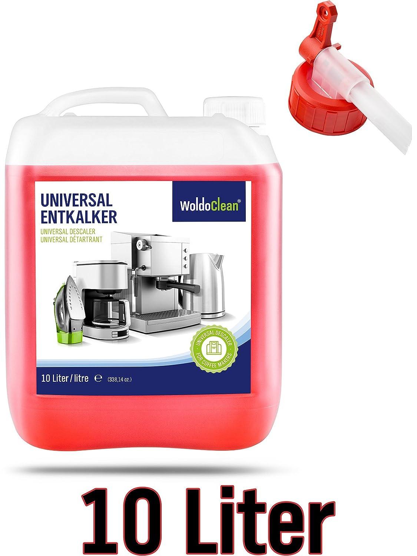 Descalcificador de bidón Incluye boquilla para cafeteras automáticas kaffem aschine HD8743 Solucionador de cal - 10 litros de líquido descalcificador para ...