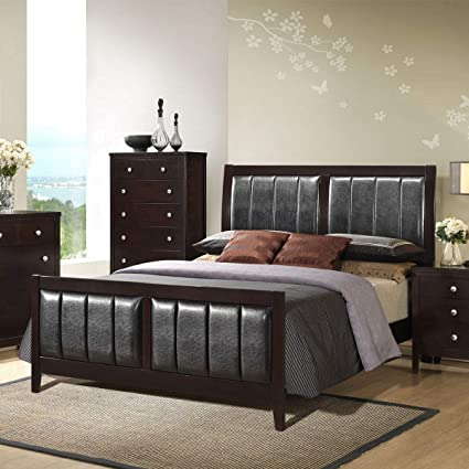 Amazoncom Kchexking Size Upholstered Platform Bed Frame Wood