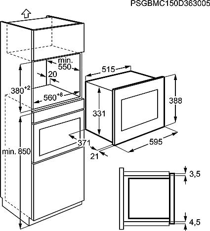 AEG MSD2543S-M - Microondas (230 V, 20 A)