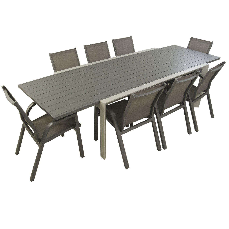 Conjunto Mesa jardín Extensible 200/300cm y 8 sillones ...