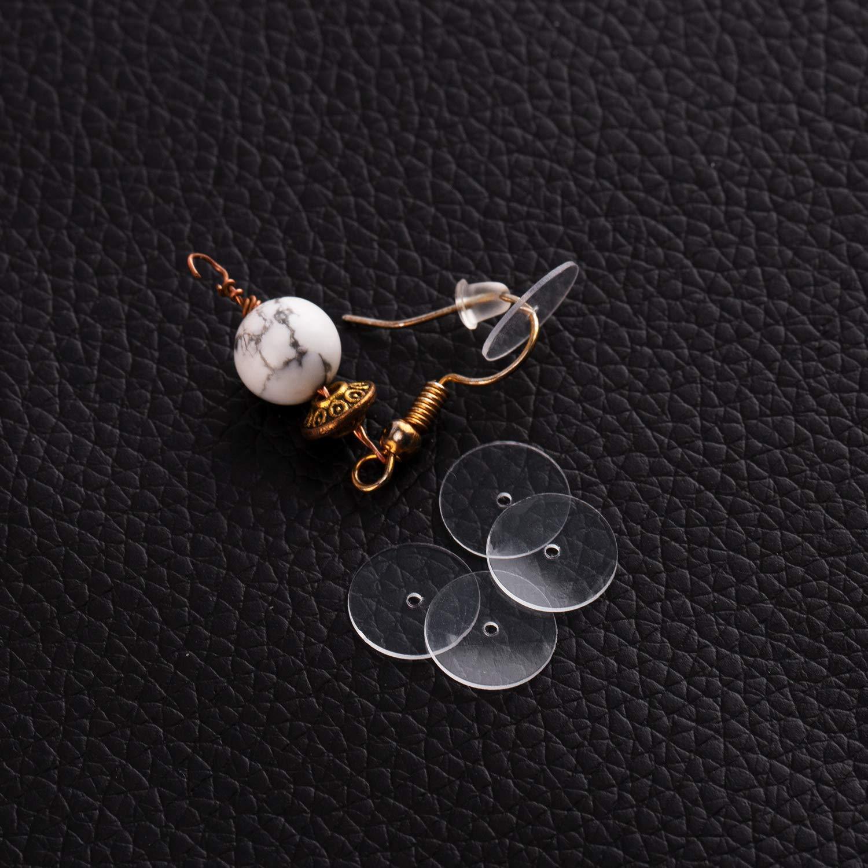 150Pcs Plastic Discs for Earring Backs Clear Disc Pads Earrings by L-BOST