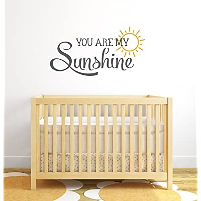 You Are My Sunshine Nursery Quote Wall Decal - Nursery Wall Decals - Baby Nursery Wall Decor Vinyl Wall Art: Baby