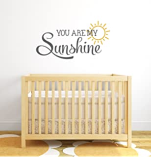 You Are My Sunshine Nursery Quote Wall Decal   Nursery Wall Decals   Baby  Nursery Wall