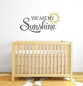 Wonderful You Are My Sunshine Nursery Quote Wall Decal   Nursery Wall Decals   Baby  Nursery Wall