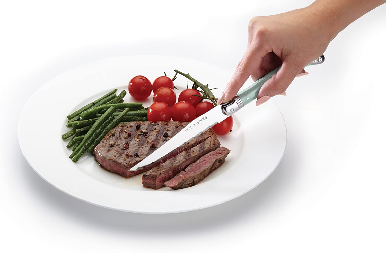 multicolor Cuchillos para carne KitchenCraft Colourworks 2 x 23 x 1.5 cm acero inoxidable acero inoxidable