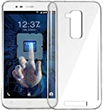 Jkobi® Exclusive Soft Silicone TPU Jelly Crystal Clear Case Soft Back Case Cover For Intex Elyt E7 -Transparent