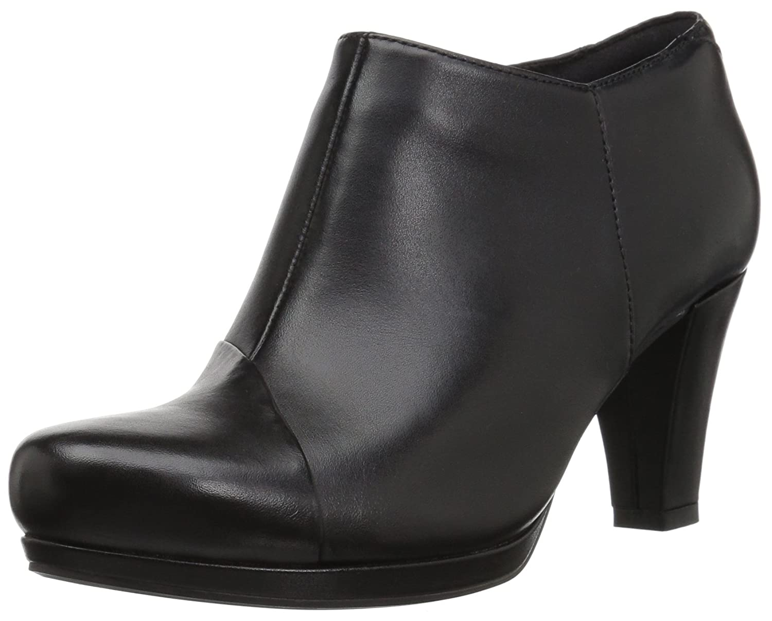 CLARKS Women's Chorus Jingle Ankle Bootie B01N6FWA6C 11 B(M) US|Black Leather
