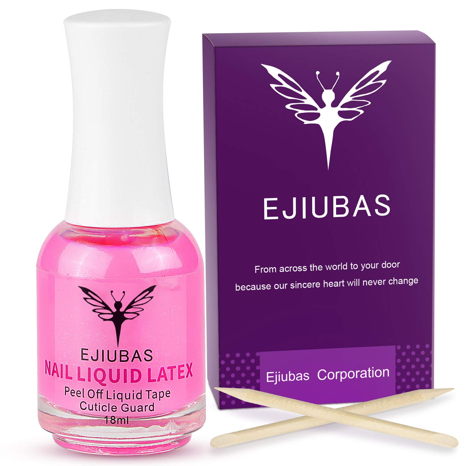 Liquid Latex for Nails 18ml Ejiubas Latex Tape Peel Off Cuticle Guard Skin Barrier Protector