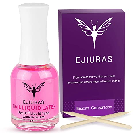 Liquid Latex For Nails Cuticle Guard Ejiubas Peel Off Liquid Latex For Nail Stamping Kit Nail Protector Nail Polish Barrier Skin Nail Liquid Tape 1