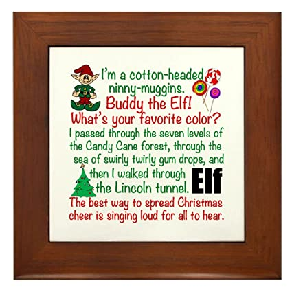 Amazon.com: CafePress - Elf Movie Quotes - Framed Tile ...