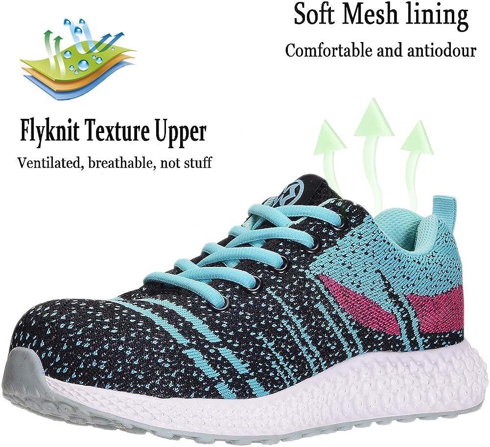 Zapatillas de Seguridad Hombre Zapatos de Mujer Antideslizante Transpirable Zapatos de Trabajo Calzado de Trabajo Ultra Liviano Suave y C/ómodo Deportes Unisex