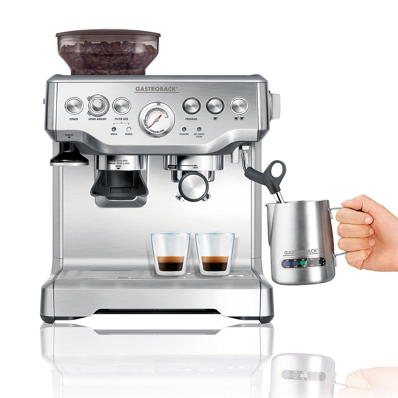 Beispiel-Vergleich-von-Espressomaschine mit Mahlwerk Gastroback 42612 S Design Espresso Advanced Pro GS