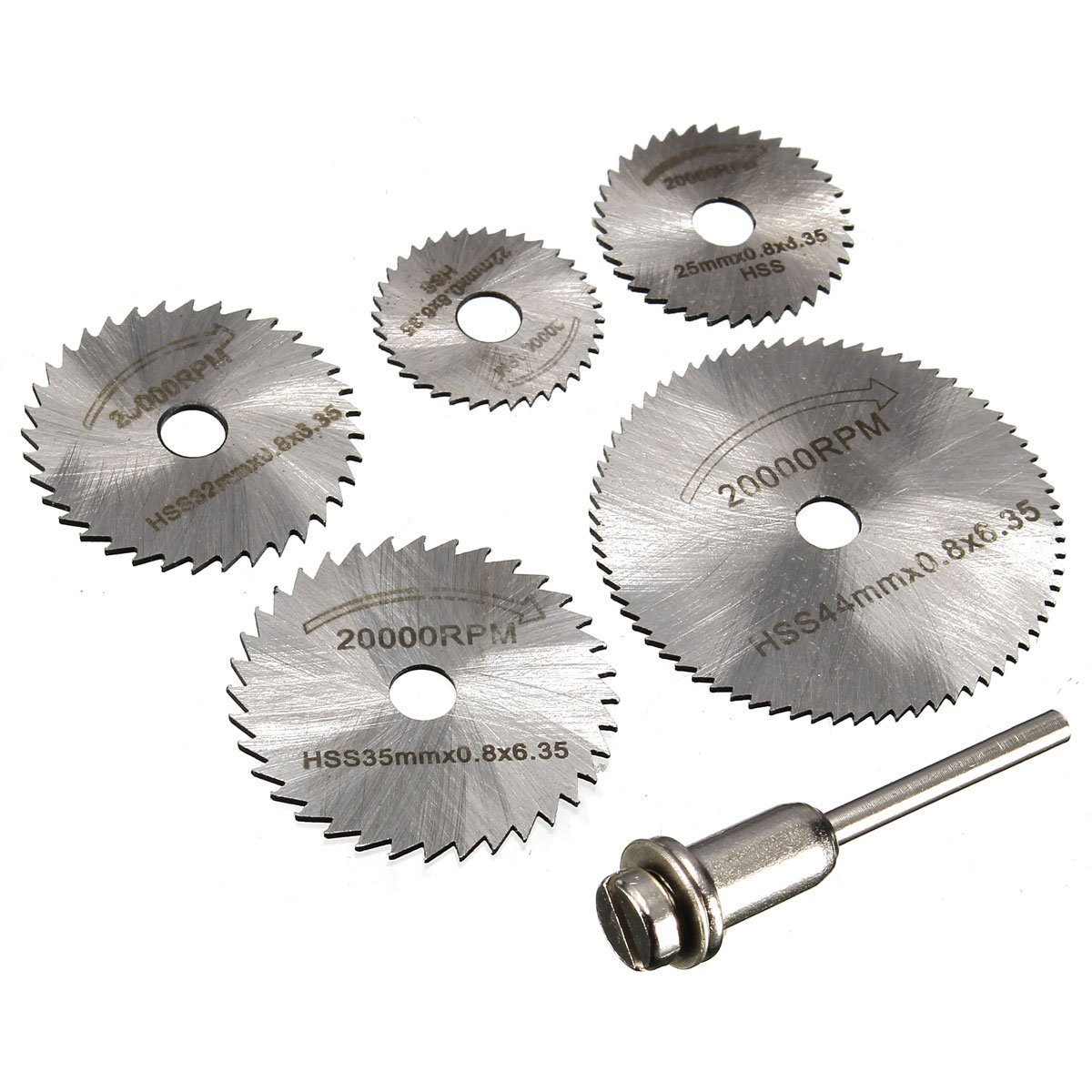 6pc Mini Diamond Cutting Disc Set 3.17mm Shank Mandrels Dremel Rotary Drill Tool