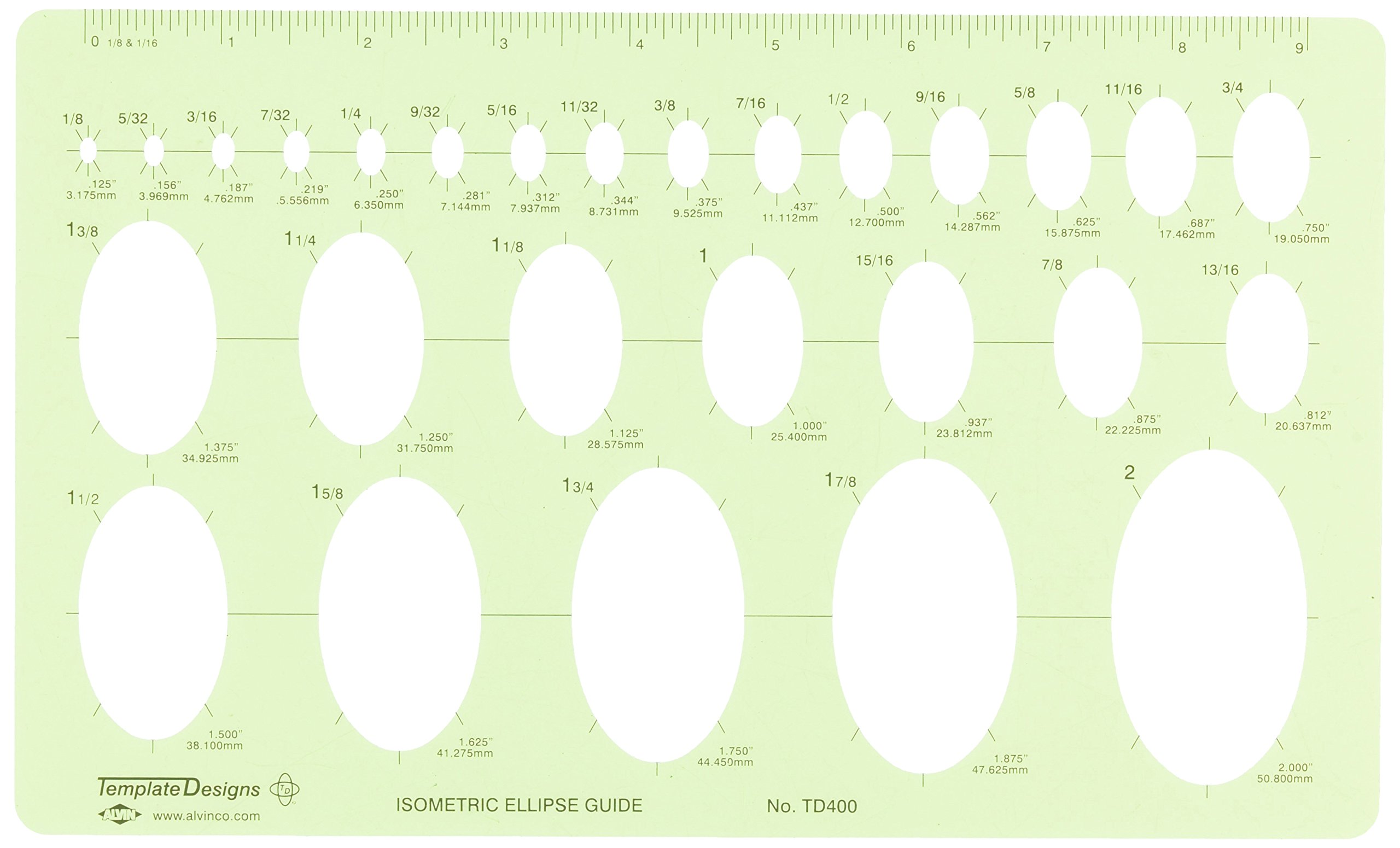 Alvin Isometric Ellipse Guide Template (TD400) product image