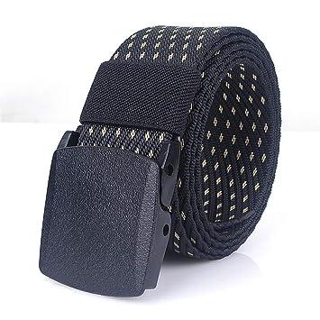 ZheTianmios Cinturón de Nylon táctico Militar Cinturón de Nylon Hebilla de  plástico Automático Cinturón Cinturón de Vaqueros de los Hombres   Amazon.es  ... db52cb141e28