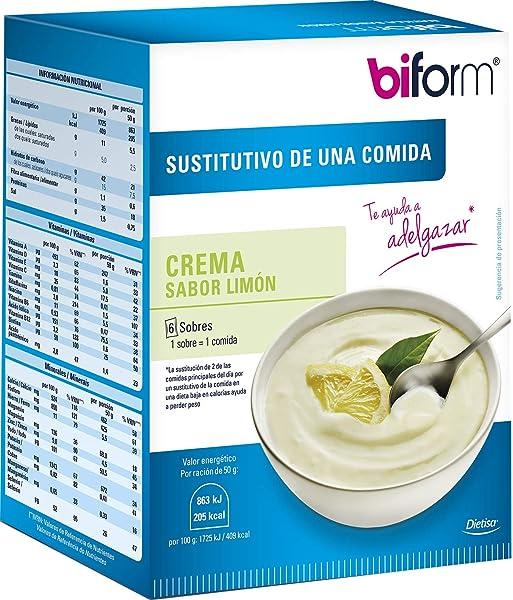 Dietisa - biform - Sustitutivos para Adelgazar - Crema limón 300 gr: Amazon.es: Belleza