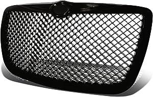 For Chrysler 300/300C ABS Plastic Mesh Front Bumper Grille (Black) - 1st Gen