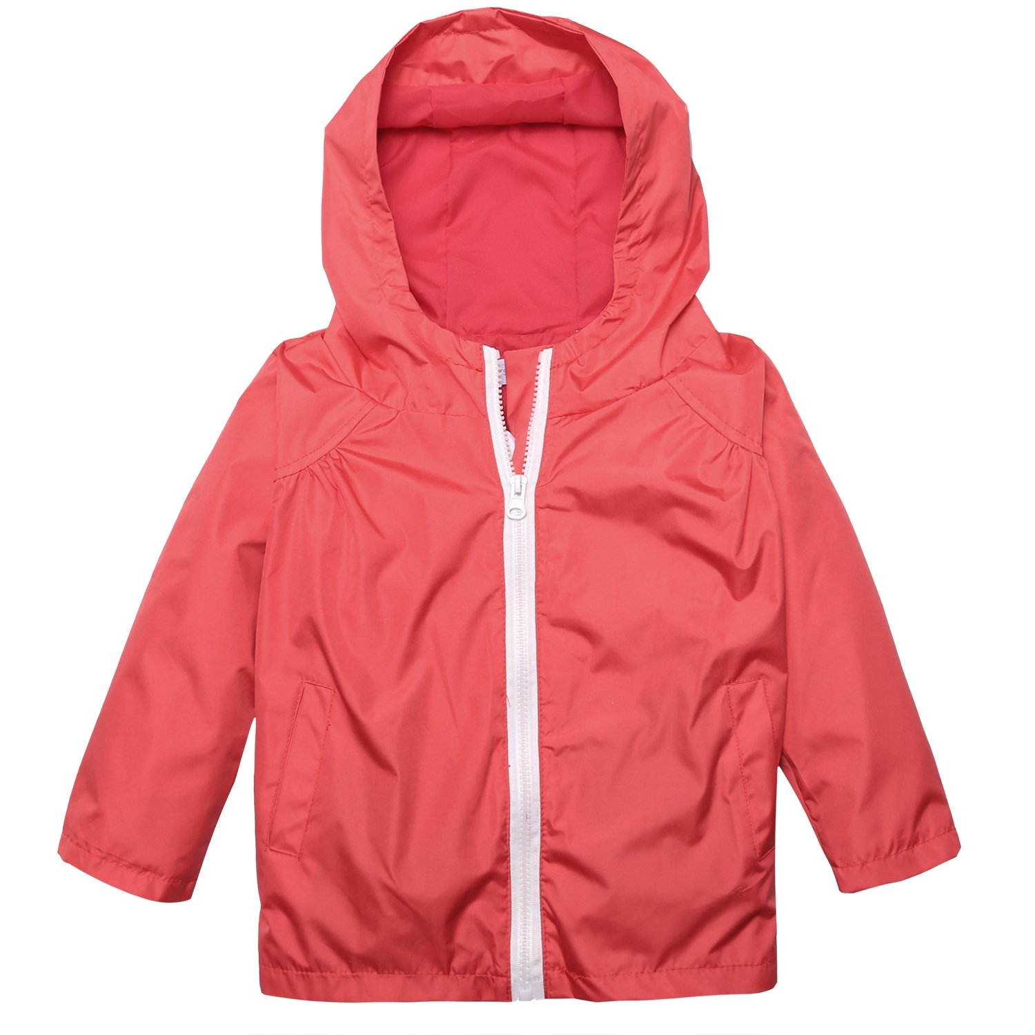 Arshiner Little Kid Waterproof Hooded Coat Jacket Outwear Raincoat,Red,Size 90 by Arshiner