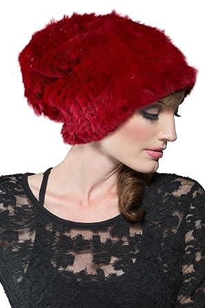 Amazon.com  Adrienne Landau Women s Bryan Boy Red Rex Rabbit Knit ... 6fbaac1fa7e