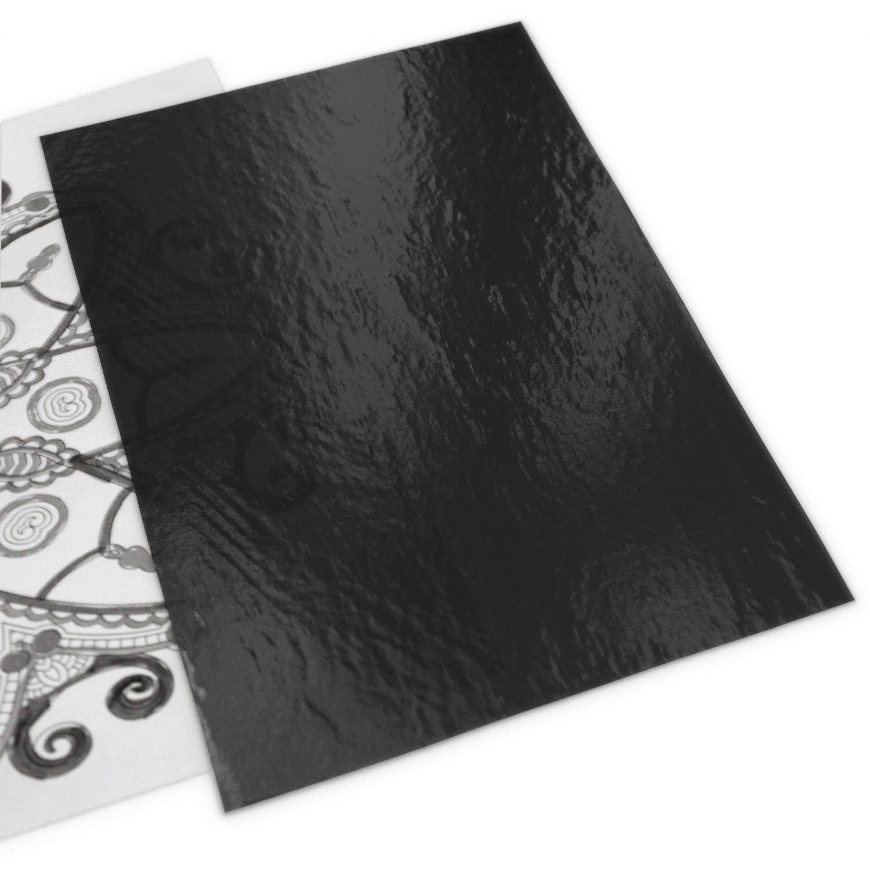 SHOH 50 Blatt Kohlefaser-Transferpapier 23 x33 cm Papier schwarzes Kohlepapier Kopierpapier f/ür Holz Leinwand und andere Kunstoberfl/ächen