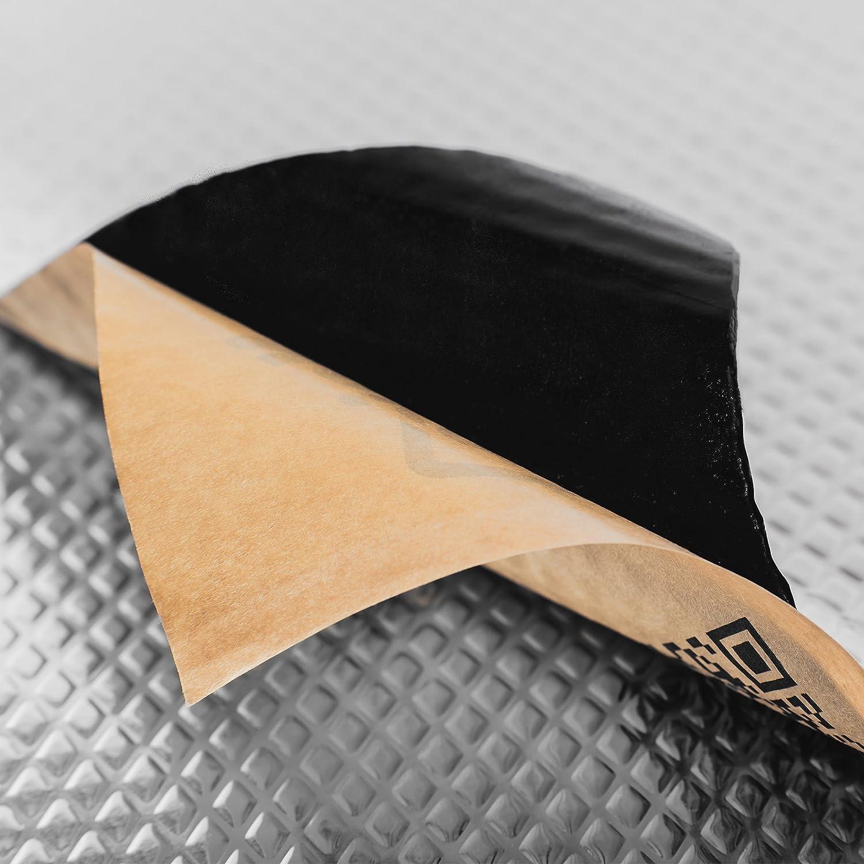 Noico da 2 mm 3,4 mq Isolante insonorizzante per auto Isolamento Acustico e Smorzamento di vibrazioni Fonoassorbente Butilico da Auto