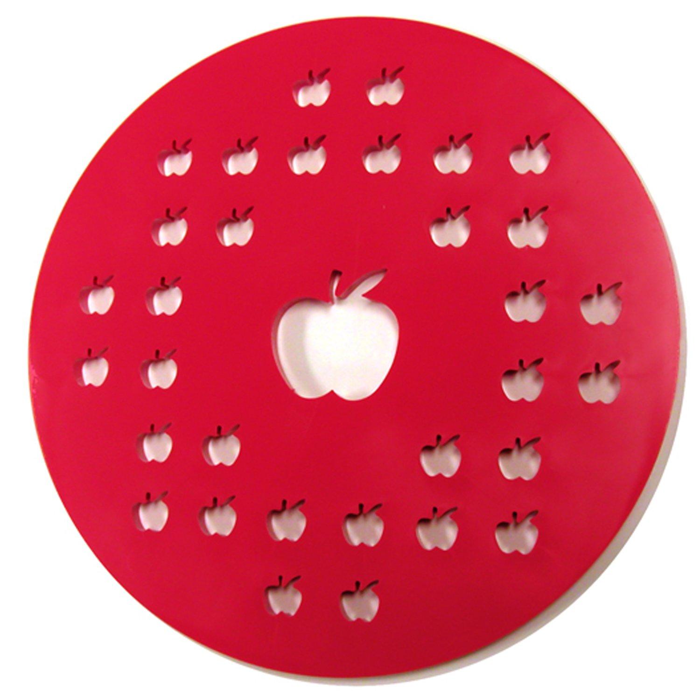 Norpro 3259 Apple Pie Top Cutter, 10-Inch, Red