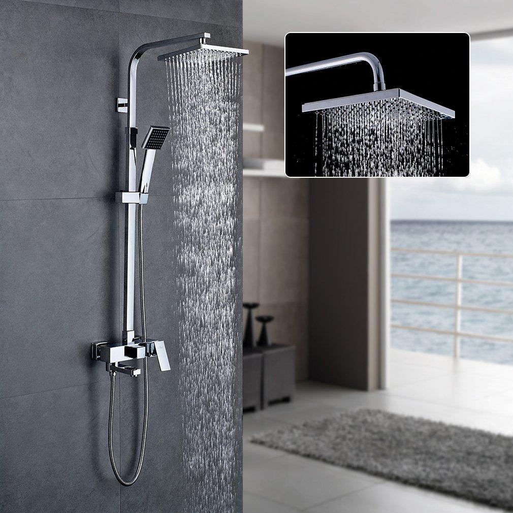 Auralum Duschset Duschkopf-Mischbatterie mit Brause Wasserhahn Duschköpfe Duscharmatur Brauseset