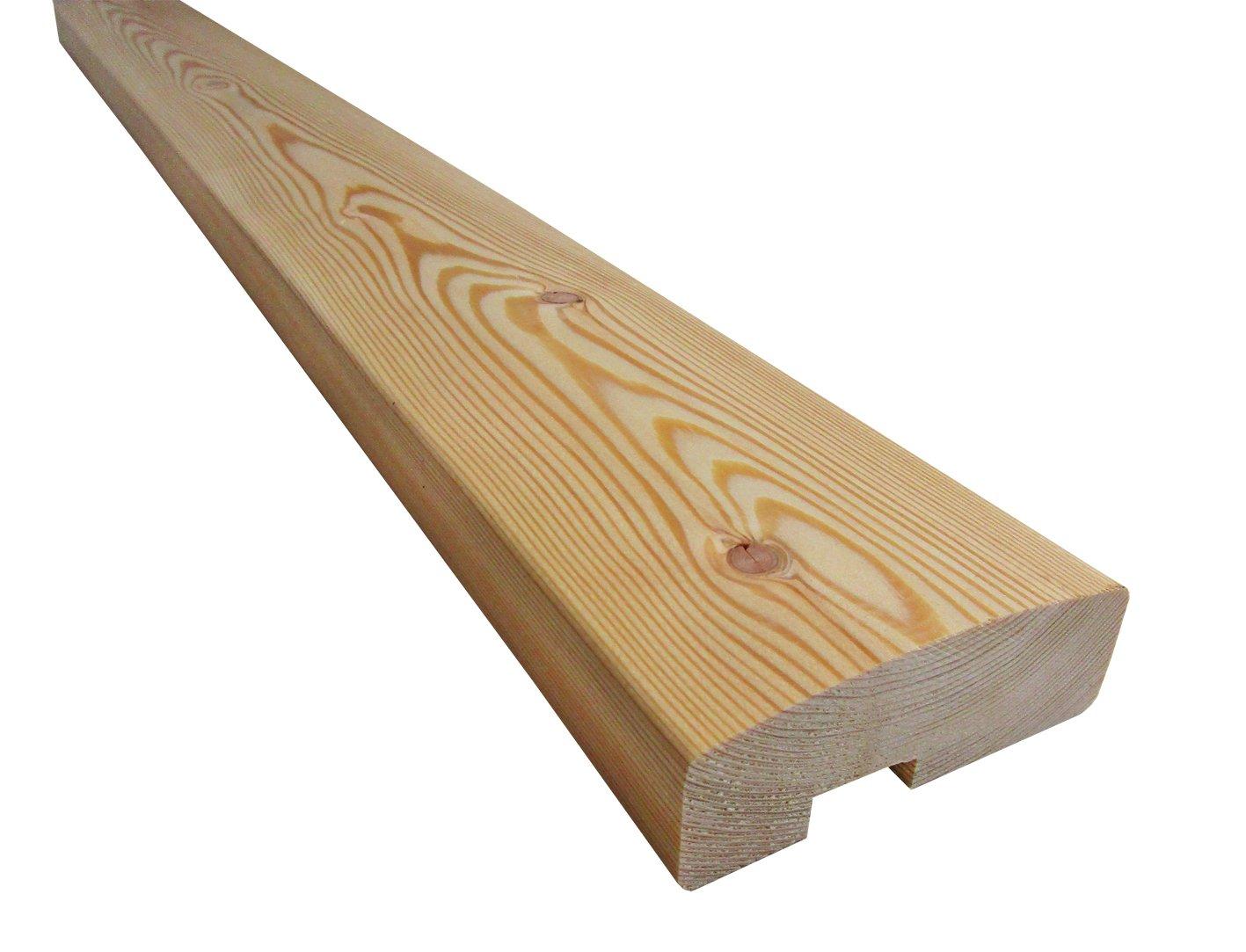 Handlauf für Holzbalkon (2 Stück) - Sibirische Lärche - 2090/1 SL (2500x92x34mm) haus-garten-versand.de