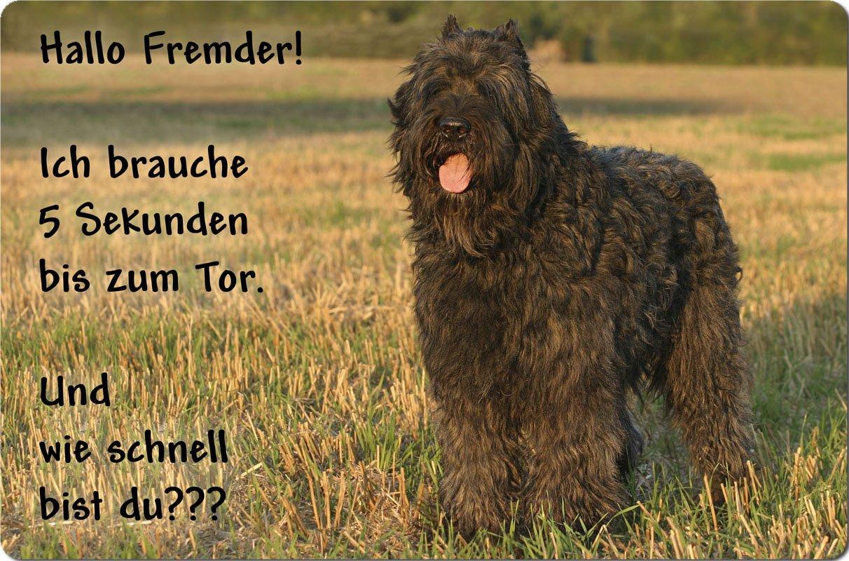 +++ BOUVIER des FLANDRES - Metall WARNSCHILD Schild Hundeschild Sign - BDF 05 T14 Nanyuk