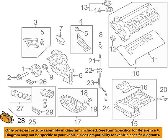 Genuine Hyundai 26410-2B710 Engine Oil Cooler Assembly