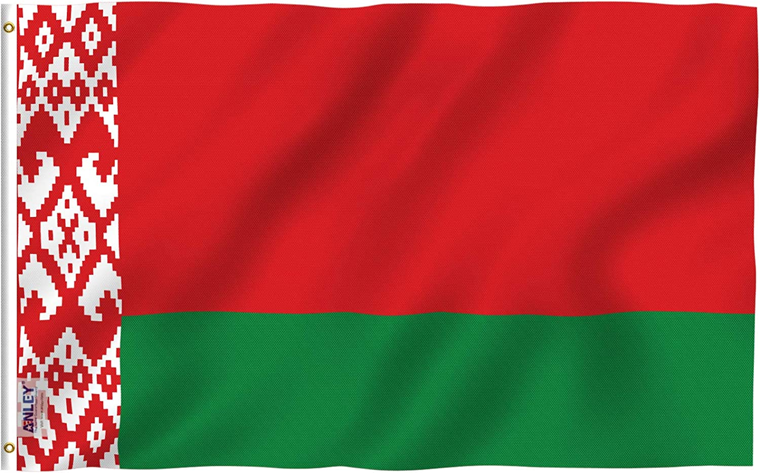 Anley Fly Breeze 3x5 Feet Belarus Flag - Vivid Color and Fade Proof - Canvas Header and Double Stitched - Republic of Belarus Flags Polyester with Brass Grommets 3 X 5 FT