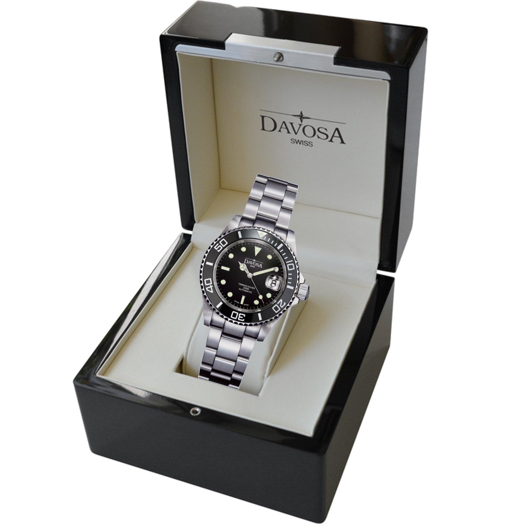 Davosa Swiss Made Men Wrist Watch, Ternos Ceramic 16155550 Professional Automatic Analog Display & Luxury Bezel by Davosa (Image #7)