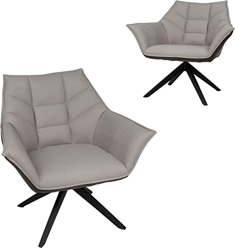Koreyosh 360 Swivel Accent Armchair Set of 2 Modern Living Room Leisure Chair