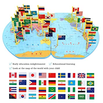 Bolange world map flag puzzle learning toy wooden puzzle world map bolange world map flag puzzle learning toy wooden puzzle world map puzzle game wooden puzzle world gumiabroncs Gallery