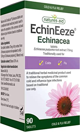 Imagen deNatures Aid EchinEeze 70mg (Equivalent 460mg-530mg of Echinacea) - Pack of 90 Tablets