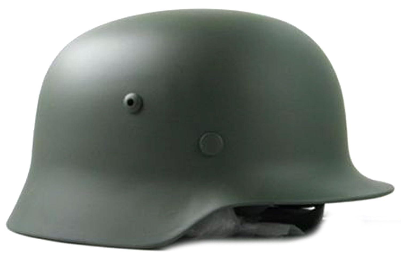 NuoYa005 Coleccionable WW2 alemán M35 ejército de Casco de Moto de Acero Esfera Verde: Amazon.es: Deportes y aire libre