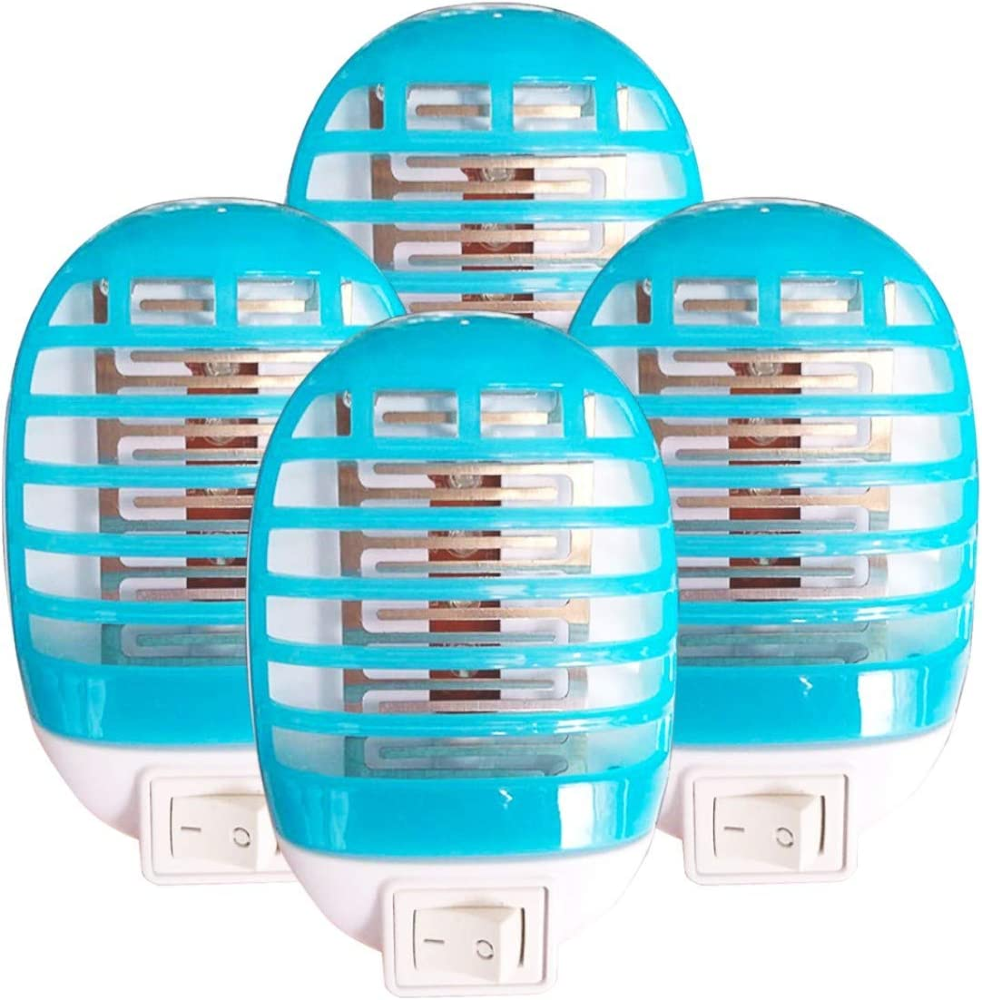 4 Pack Bug Zapper Indoor Plug in, Electric Mosquito Zapper Lamp for Home, Mosqutio Trap and Insect Killer Eliminates Flying Pests