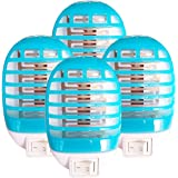 4 Pack Bug Zapper Indoor Plug in, Electric Mosquito Zapper Lamp for Home, Mosqutio Trap and Insect Killer Eliminates…