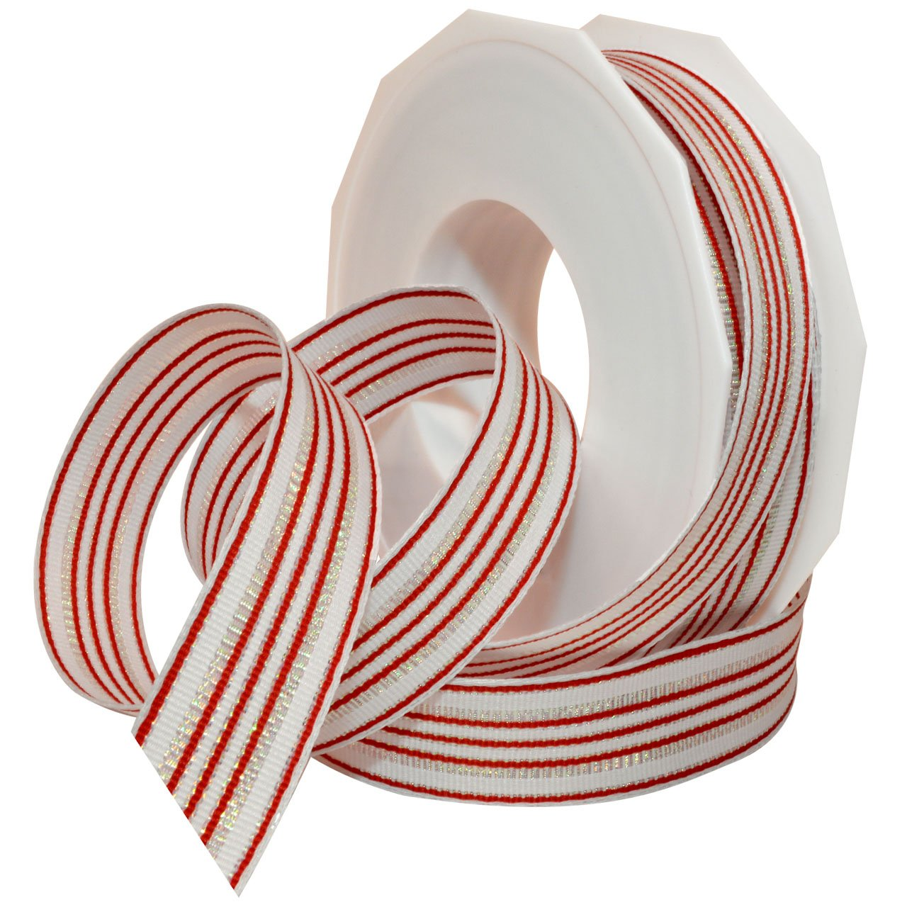 Red and White Christmas Grosgrain Ribbon