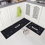 Carvapet 2 Piece Non-Slip Kitchen Mat Rubber