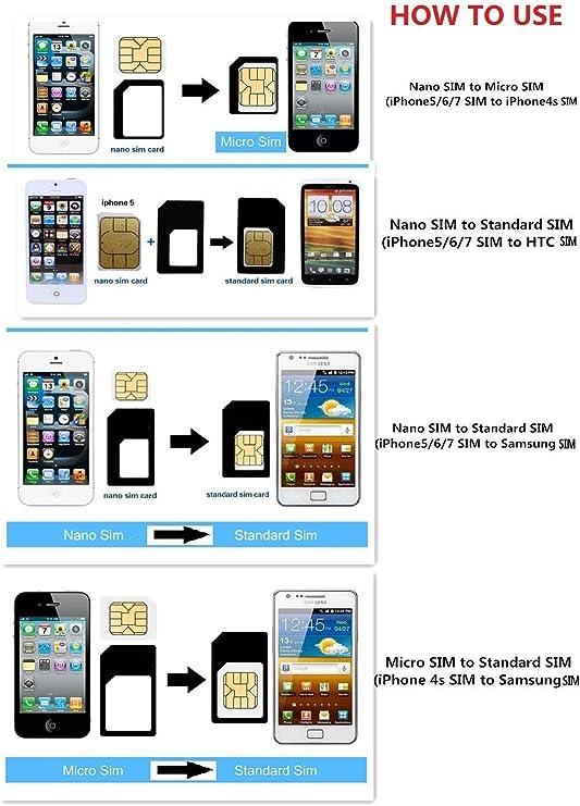 Carte Sim Adaptateur Specialement Concu Pour Iphone 7 6 5 4 User Parallelement Utile Pour Samsung Nokia Htc Huawei Utilisateur Etc Amazon Fr High Tech