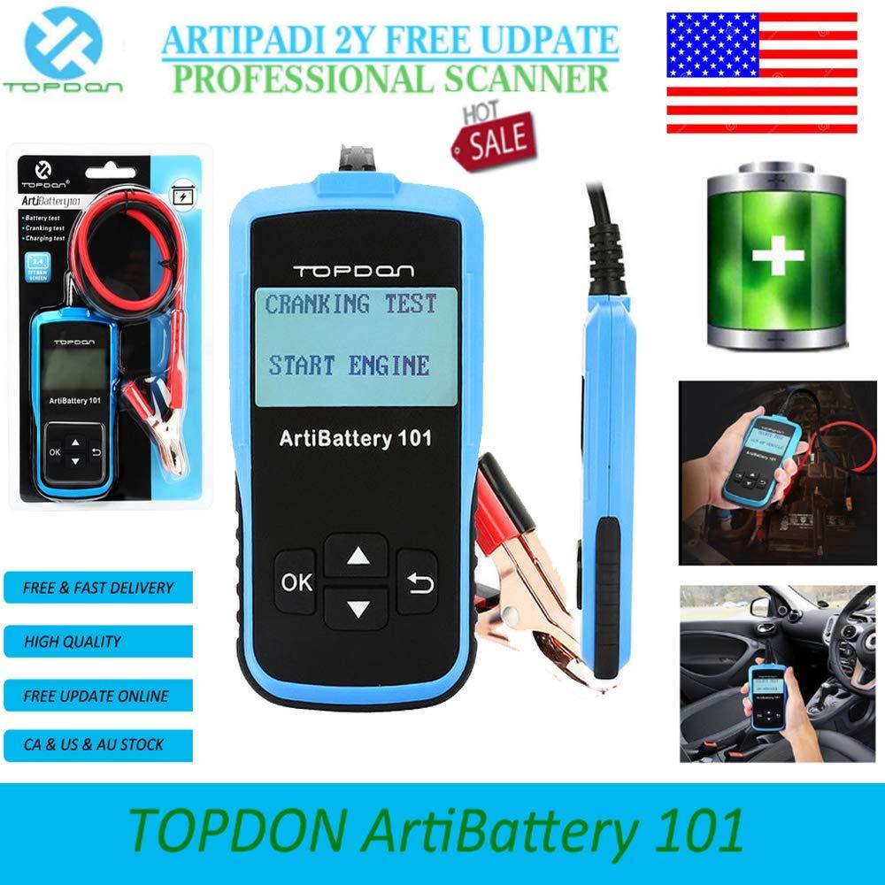 TOPDON ArtiBattery101 Car Battery Tester Auto Analyzer Cranking Charging Tester W22566
