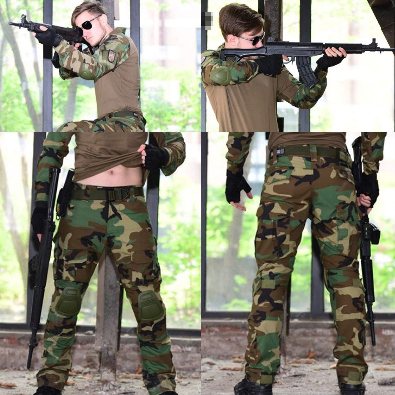 QMFIVE Airsoft Hosen M/änner schie/ßen BDU Kampf Taktische Hosen f/ür Armee Military Paintball