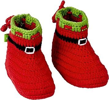 Bébé Bottillons Bébé Crochet Série De Noël Glück Rouge 94l7w9Ozsn