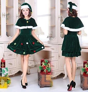 Disfraz De Miss Santa para Mujer Traje De Navidad ÁRbol De Navidad ...
