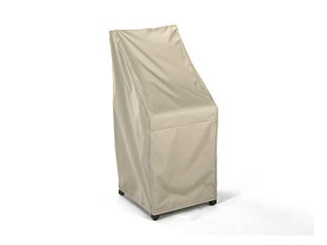 Stacking Chair Cover Elite Collection Year Around Protection Charcoal 3 YR Warranty 26W x 28D x 48H Covermates
