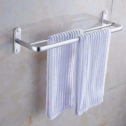 YFF@ILU La Zona de baño de Aluminio Palanca de Toalla de baño WC y