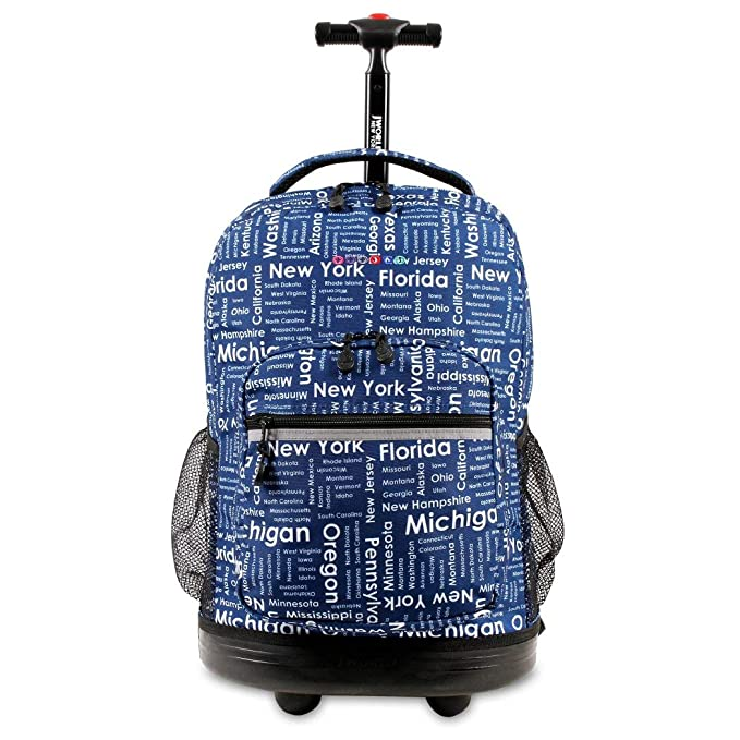 Amazon.com: Kids Azul Road Trip Themed – Mochila con ruedas ...