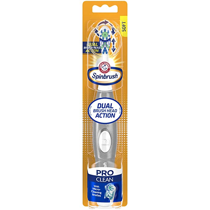 Arm & Hammer Spinbrush Pro Series Daily Clean Battery Toothbrush, Soft