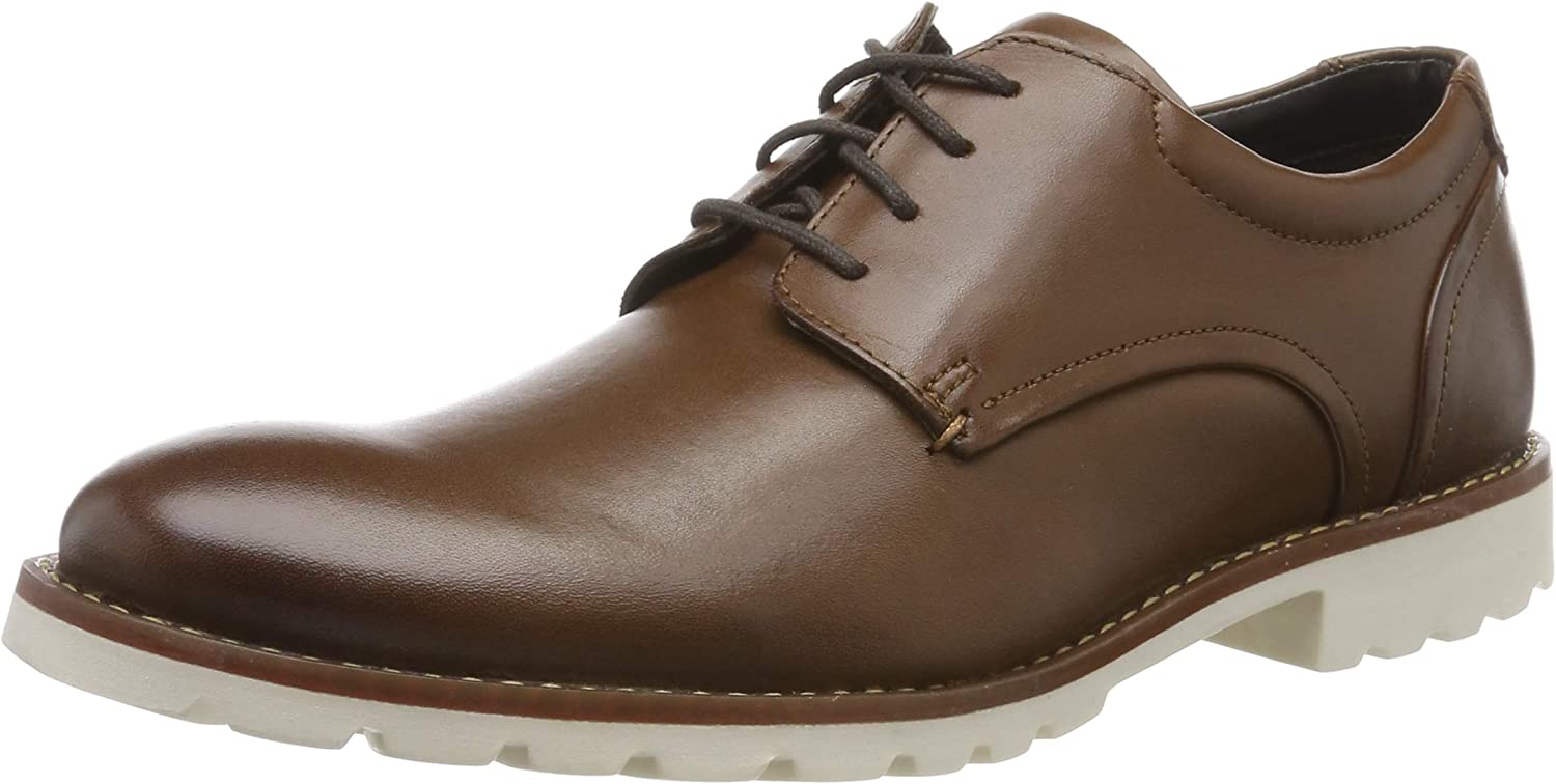 Rockport Sharp & Ready Colben Plain Toe, Zapatos de Cordones Oxford para Hombre